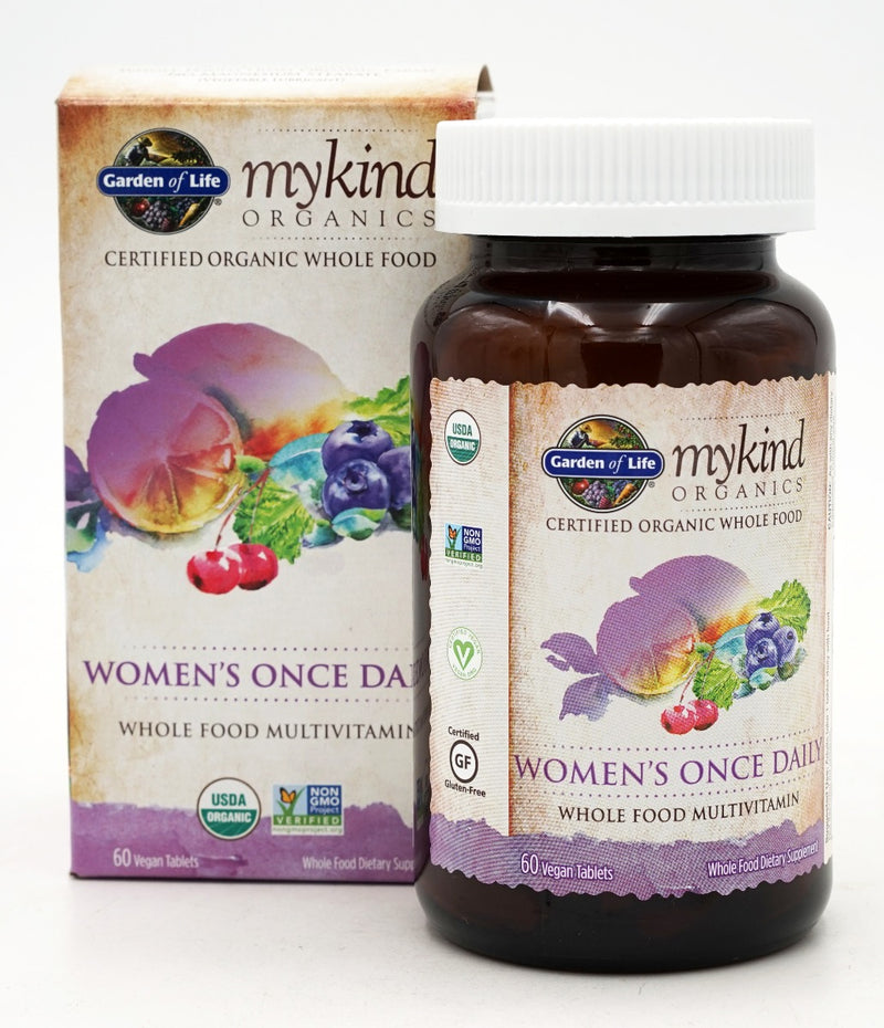 Garden of Life Womens Once Daily Whole Food Multivitamin 60 Veg Tablets