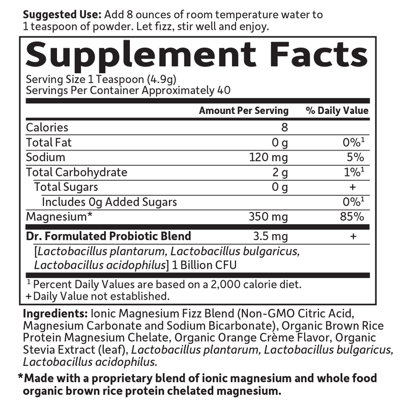 Garden of Life Dr. Formulated Whole Food Magnesium Powder Orange 7 oz