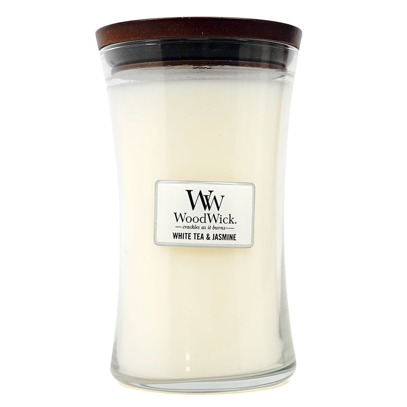 WoodWick Large Jar Candle White Tea & Jasmine 21.5 oz