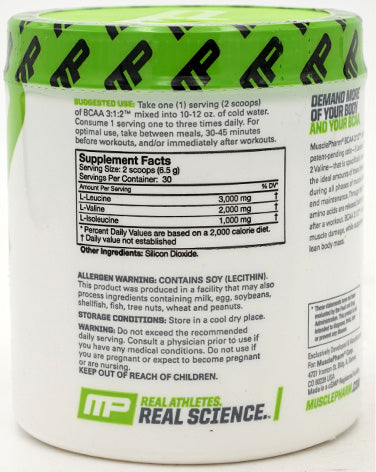 Musclepharm BCAA 3:1:2, Unflavored 0.43 lbs