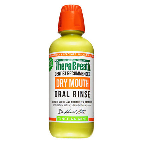 TheraBreath Dry Mouth Oral Rinse Tingling Mint 16 fl oz