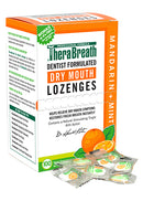 TheraBreath Mouth Wetting Fresh Breath Lozenges Mandarin Mint 100 Wrapped Lozenges