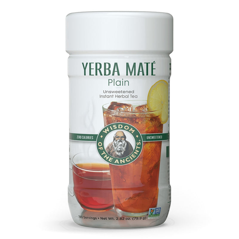 Wisdom Natural Yerba Mate Plain Unsweetened Instant Tea 2.82 oz