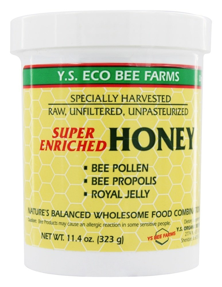 Y.S Organic Bee Farms Honey Super Enriched 11.4 oz