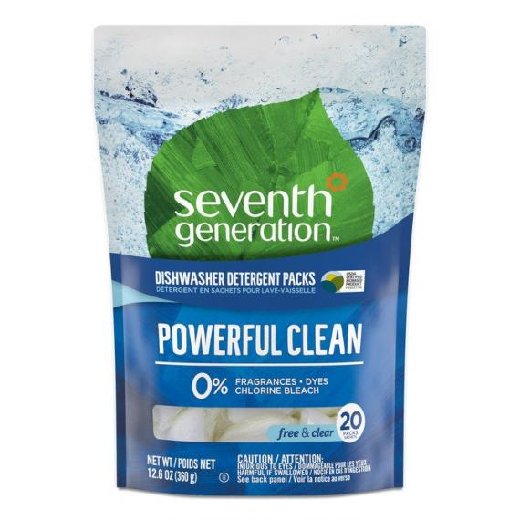 Seventh Generation Dishwasher Packs Free & Clear 20 Packs