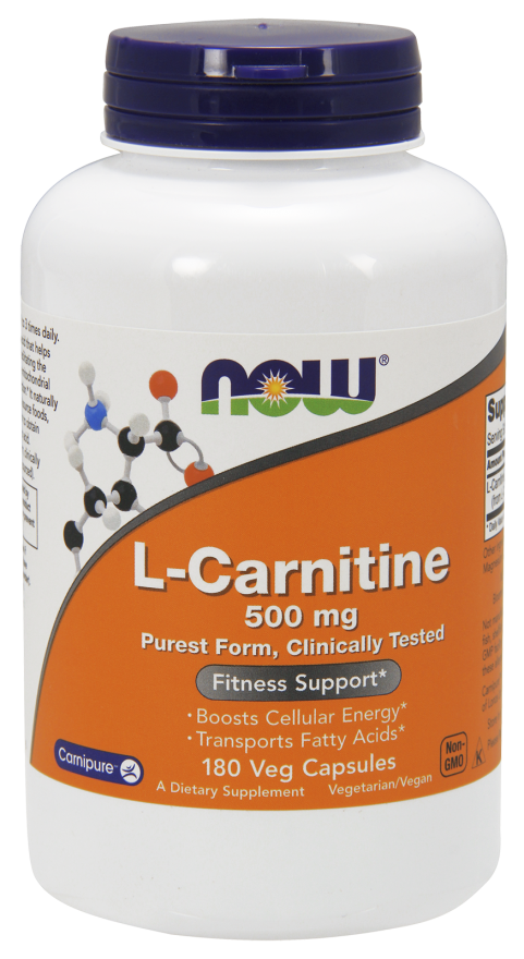 Now Foods L-Carnitine 500 mg 180 Veg Capsules