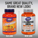 Now Foods L-Glutamine Double Strength 1000 mg 120 Capsules