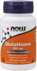 Now Foods Glutathione 250 mg 60 Veg Capsules