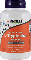 Now Foods L-Tryptophan Double Strength 1000 mg 60 Tablets