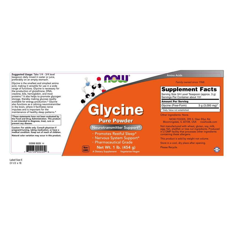 Now Foods Glycine Pure Powder 1 lb