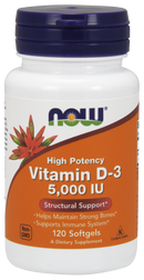 Now Foods Vitamin D-3 5,000 IU 120 Softgels