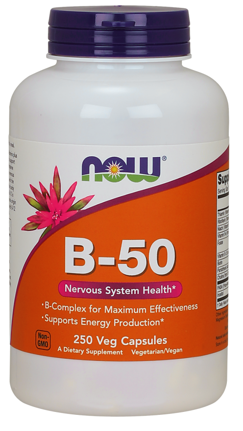 Now Foods Vitamin B-50 250 Veg Capsules