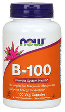 Now Foods Vitamin B-100 100 Veg Capsules