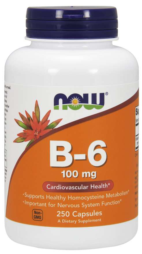 Now Foods B-6 100 mg 250 Capsules