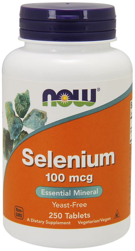 Now Foods Selenium 100 mcg 250 Tablets