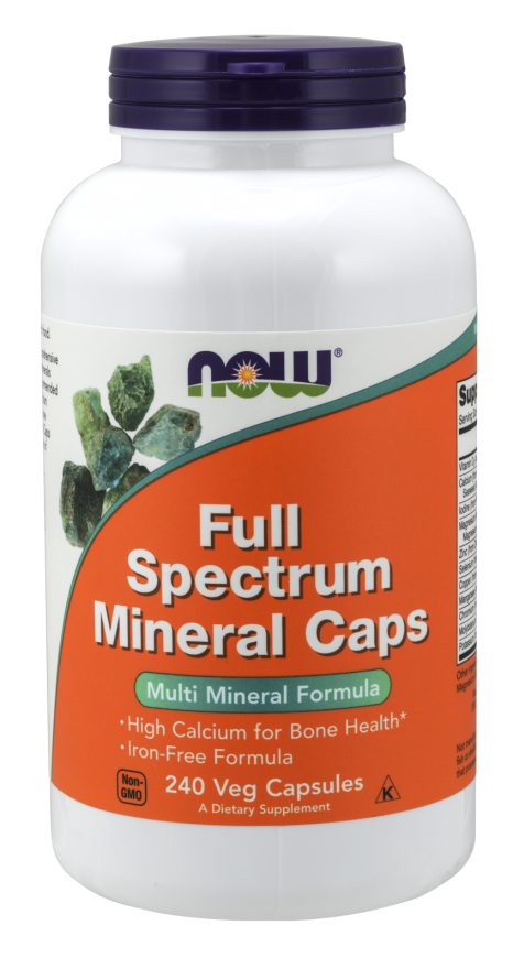 Now Foods Full Spectrum Minerals Caps 240 Veg Capsules