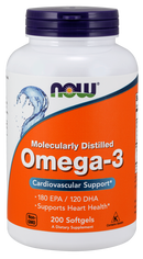 Now Foods Molecularly Distilled Omega-3 200 Softgels