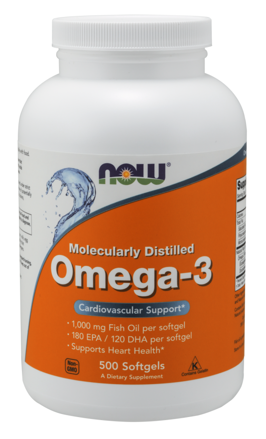 Now Foods Omega-3 Molecularly Distilled 500 Softgels