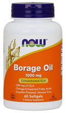 Now Foods Borage Oil 1000 mg 60 Softgels