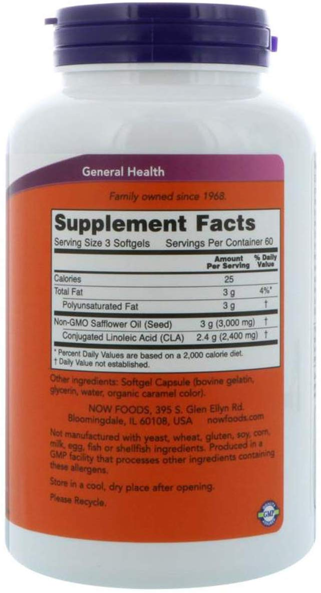 Now Foods CLA 800 mg 180 Softgels