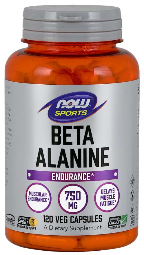 Now Foods Beta Alanine 750 mg 120 Veg Capsules