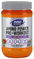 Now Foods Amino Power Pre-Workout Natural Raspberry Flavor 21.16 oz
