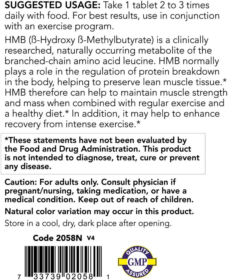 Now Foods HMB Double Strength 1,000 mg 90 Tablets
