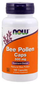 Now Foods Bee Pollen Caps 500 mg 100 Capsules