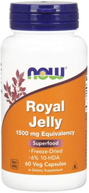 Now Foods Royal Jelly 1500 mg 60 Veg Capsules
