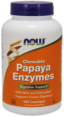 Now Foods Chewable Papaya Enzyme 360 Lozenges