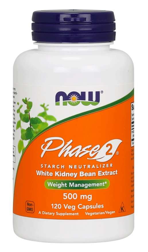 Now Foods Phase 2 500 mg 120 Veg Capsules