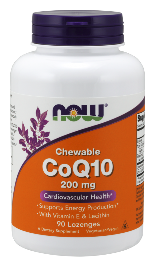 Now Foods CoQ10 Chewable 200 mg 90 Lozenges