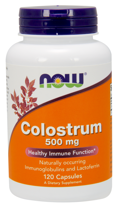 Now Foods Colostrum 500 mg 120 Veg Capsules