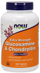 Now Foods Glucosamine & Chondroitin Extra Strength 120 Tablets