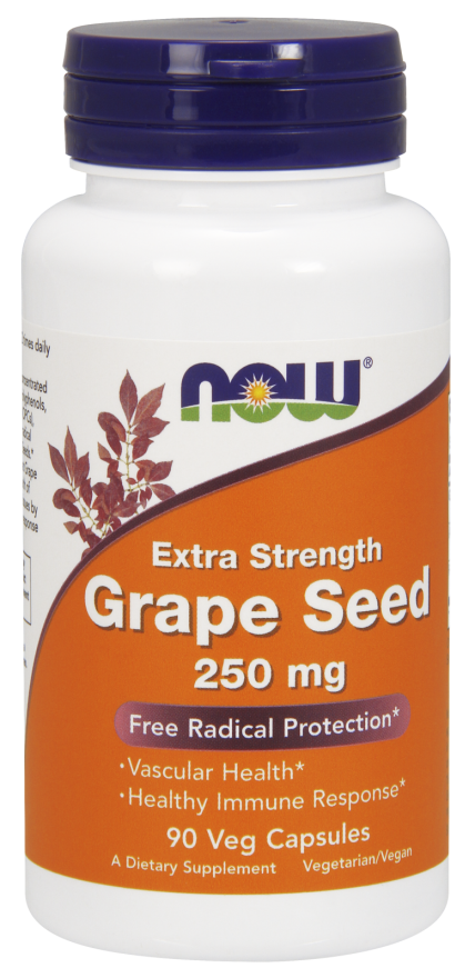 Now Foods Grape Seed 250 mg 90 Veg Capsules