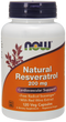 Now Foods Natural Resveratrol 200 mg 120 Veg Capsules