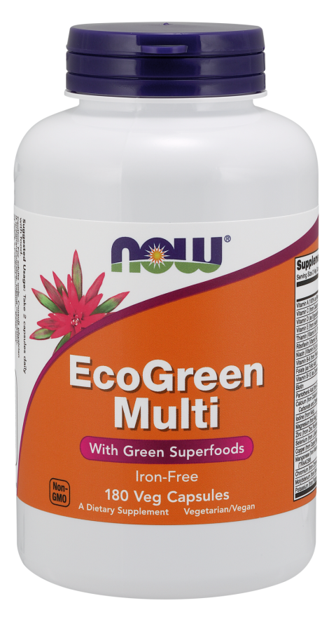 Now Foods EcoGreen Multi 180 Veg Capsules
