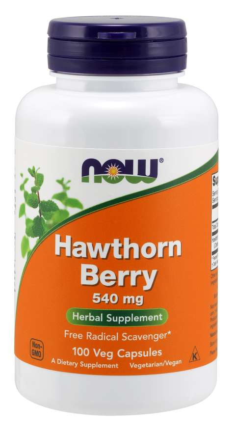 Now Foods Hawthorn Berry 540 mg 100 Veg Capsules