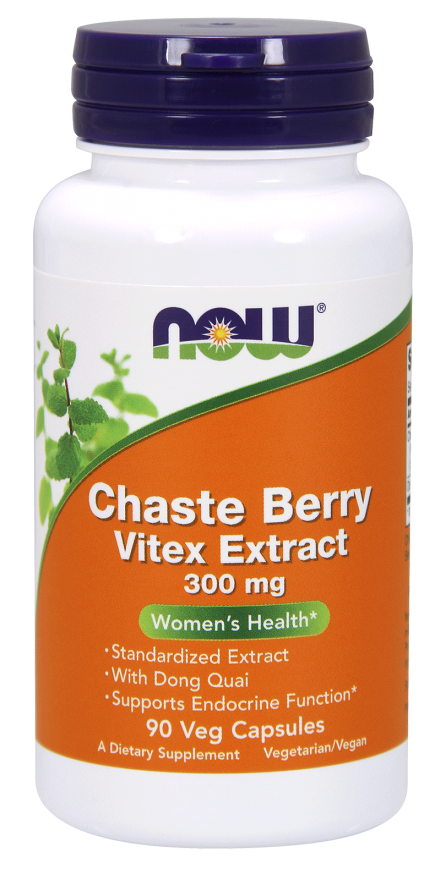 Now Foods Chaste Berry Vitex Extract 300 mg 90 Veg Capsules
