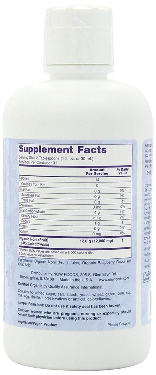 Now Foods Noni SuperFruit Juice Certified Organic 32 fl oz