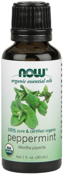 Now Foods Essential Oils Peppermint 1 fl oz pure & certified organic