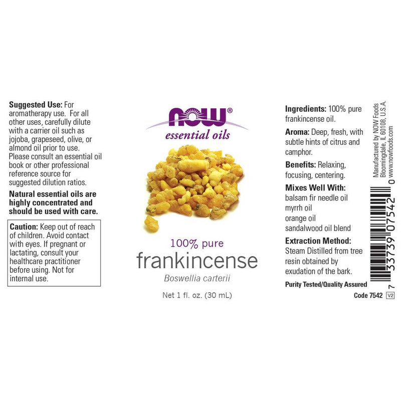 Now Foods Essential Oils Frankincense 1 fl oz