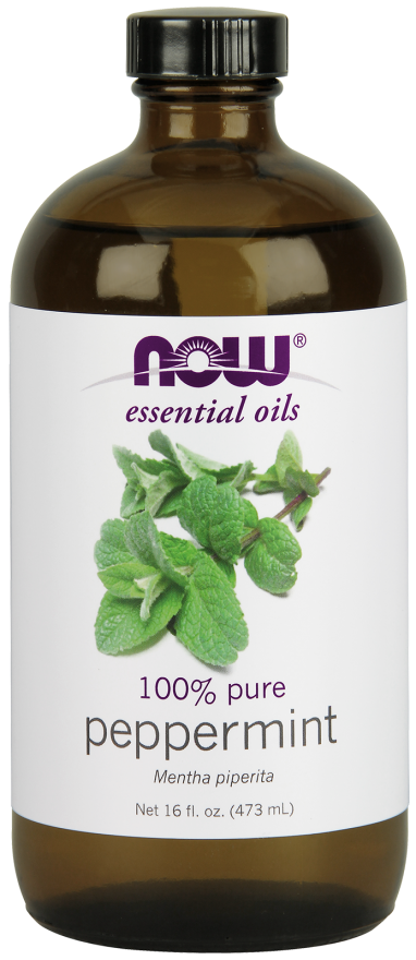 Now Foods Essential Oils Peppermint 16 fl oz