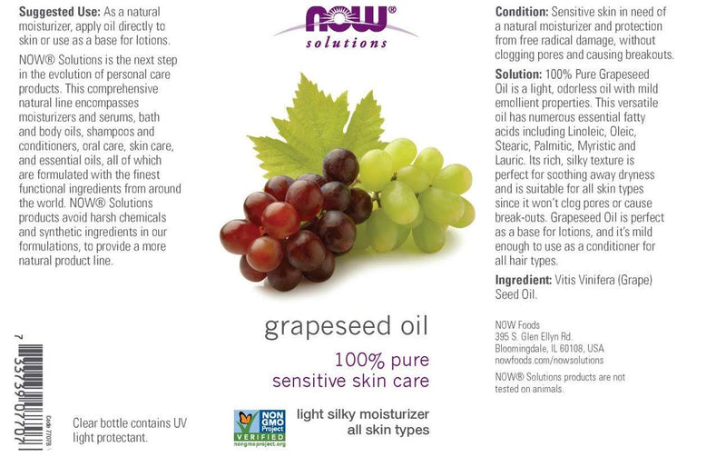 Now Foods Grapeseed Oil 16 fl oz