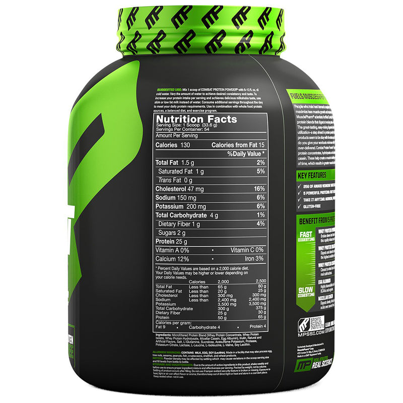 Musclepharm Combat Protein Powder Vanilla 4 lb