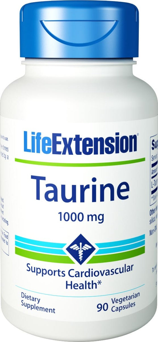Life Extension Taurine 1,000 mg 90 Veg Capsules
