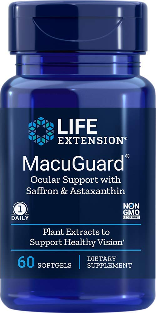 Life Extension MacuGuard, Ocular Support With Astaxanthin 60 Softgels
