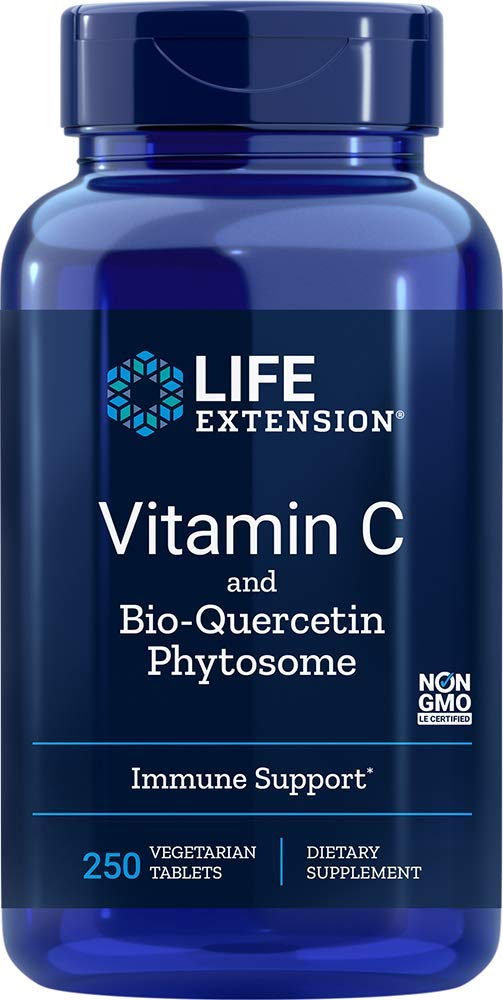Life Extension Vitamin C and Bio-Quercetin Phytosome 250 Veg Tablets
