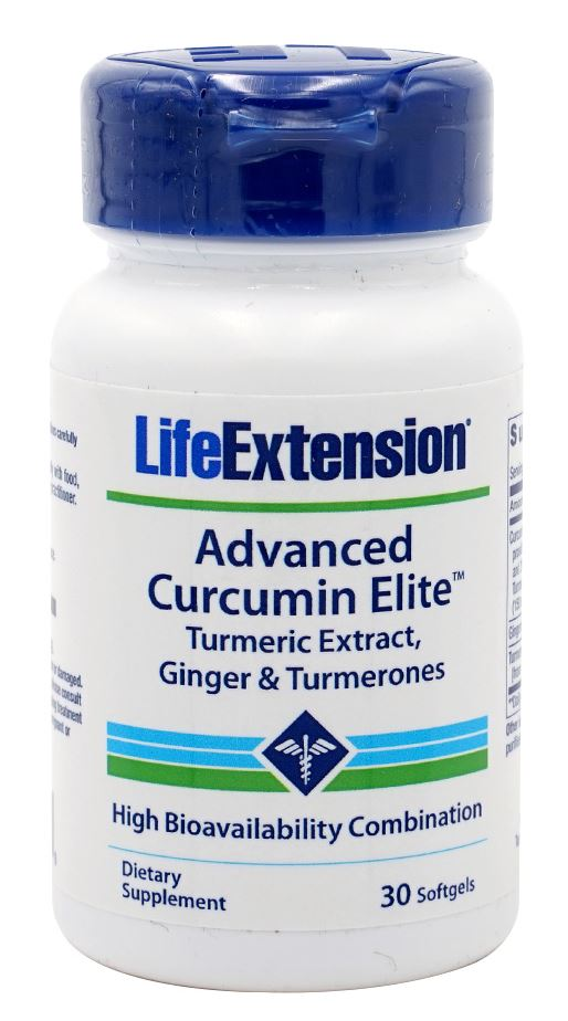 Life Extension Advanced Curcumin Elite Turmeric Extract Ginger & Turmerones 30 Softgels