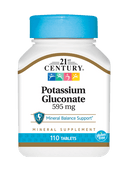 21st Century Potassium Gluconate 595 mg 110 Tablets